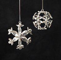 Very pretty... Victorian Glass Snowflake Sphere Ornament - Hexagon