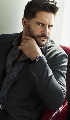 Joe Manganiello steaming up a Post photo shoot // Dolce & Gabbana suit // David Yurman watch
