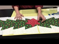 Quilting Quickly: Island Chain - Batik Table Runner Quilt Pattern using Precuts - YouTube