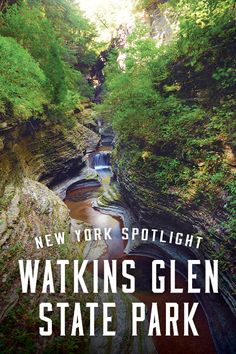 The main feature of Watkins Glen State Park is the natural, 400-foot gorge running through the park, carved out by a babbling creek.
