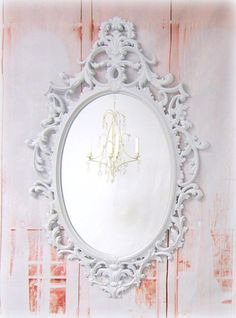 HOLLYWOOD REGENCY MIRROR For Sale Large White Black Gold Baroque Mirrors Ornate Bathroom Mirror Vanity Vintage Mirror Syroco Boudoir