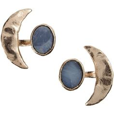 Bjørg Earrings ($240) ❤ liked on Polyvore featuring jewelry, earrings, accessories, fillers, blue, copper, blue jewelry, bjorg jewelry, blue earrings and earrings jewelry
