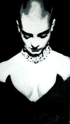 Canvas and acrylic black and white portrait of Sinead O'Connor the Irish singer, with her head bowed. Halloween Face Makeup, Poses, Artist, Daisy, Collection, Daisies, Bellis Perennis, Artists