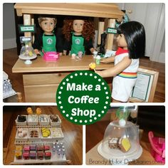 Doll Diaries Make a Coffee Shop for your Doll as featured on www.realcoake.com