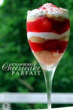{Strawberry Cheesecake Parfaits} from @Tina Doshi : Sugar Bean Bakers