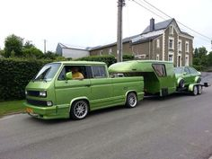 Green VW train..