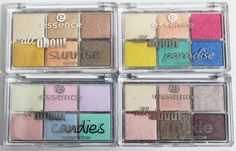 Swatches & review of the Essence All About Candies, Nude, Sunrise, & Paradise Eyeshadow Mini Palettes. You can purchase these from ULTA & they contain varying matte, satin, & metallic shades! Read more on All Things Beautiful XO   www.allthingsbeautifulxo.com