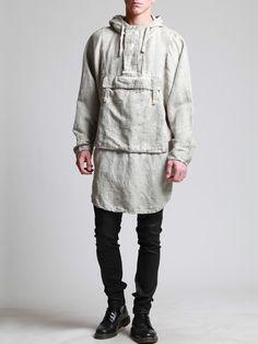 Cotton-Linen Oversized Top by SYNGMAN CUCALA
