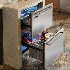 A compact fridge for the end of the breakfast bar, would be amazing.