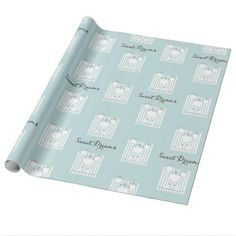 Cute Birds Baby Boy | Girl Pastel Blue Striped Wrapping Paper - toddler christmas gift idea toddlers merry xmas gifts present unique