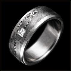 Damascus Steel Men's Wedding Ring