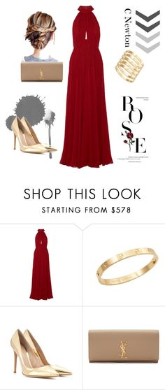 """Awards"" by cielonewton on Polyvore featuring moda, Elie Saab, Cachet, Gianvito Rossi y Yves Saint Laurent"
