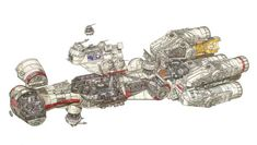Estos increíbles dibujos muestran el interior de las naves de Star Wars