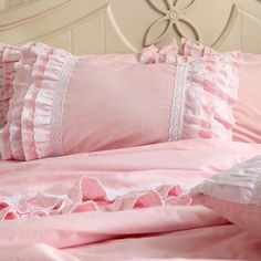 Bridal Elegent Shabby Chic Country Cottage Victorian Luxury Romantic Wedding Delicate Lace Love Ruffle Duvet Cover Set Pillow Sham