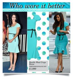 """Who wore it better?"" by hevsyblue2 ❤ liked on Polyvore"
