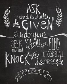 Verse of the Day - Matthew 7:7 KJV - Highland Park Baptist Church - Lenoir City, Tennessee