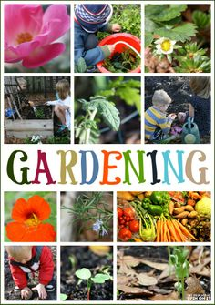 40+ Ideas for Gardening with Kids.  There are so many benefits and it's easier than you think.  Created by The Educators' Spin On It