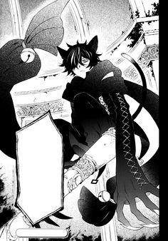 Tags: Scan, Pandora Hearts, Manga Page, Cheshire Cat (Pandora Hearts), Mochizuki Jun, Official Art