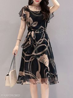 Round Neck Floral Printed Skater Dress cute dresses cute dresses casual cute dresses for summer cute dresses for women cute dresses casual summer dresses Casual Summer Dresses, Modest Dresses, Cute Dresses, Elegant Dresses, Sexy Dresses, Skater Dresses, Formal Dresses, Wedding Dresses, Dress Casual