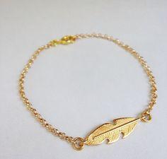 #featherbracelet #feather #goldbracelet #handmadebracelet