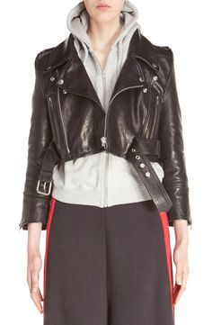 Vetements Crop Leather Biker Jacket USD 4,950.00 Item #5186728  | Nordstrom