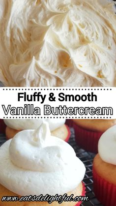 Homemade Vanilla Frosting, Whipped Buttercream Frosting, Butter Cream Icing Easy, Professional Buttercream Frosting Recipe, Buttercream Icing For Cupcakes, Homemade Frosting Recipes, Vanilla Bean Frosting, White Frosting, Cake Toppers