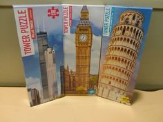 JIGSAW PUZZLES=(3) THREE 100 PC. TOWER PUZZLES BY KAPPA BOOKS PUBLISHERS= N.I.B. | Toys & Hobbies, Puzzles, Contemporary Puzzles | eBay!