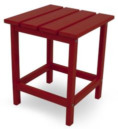 POLYWOOD ECT18SR Long Island 18 Side Table Sunset Red <3 Click the swimwear for detailed description