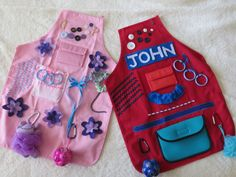 Activity Apron  for visual and tactile by LivingTheSpaLife on Etsy                                                                                                                                                      More