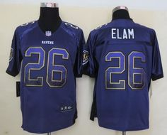 Men's NFL Baltimore Ravens #26 Elam 2013 Drift Fashion