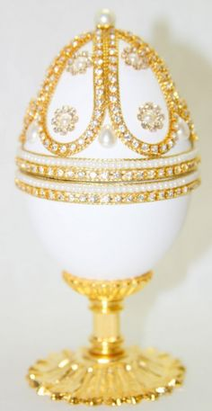Regal Royal Jewels Faberge Style Jeweled Egg by eggstreme on Etsy