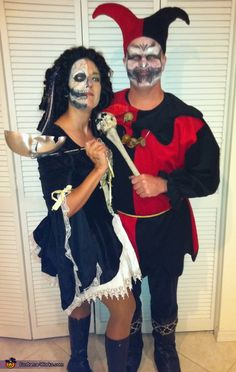 Evil Jester and Lady of Court - 2012 Halloween Costume Contest