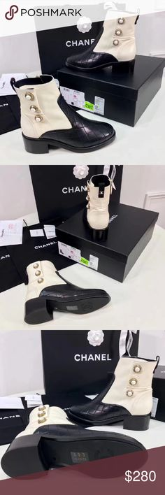 beautiful shoes 8 friend. if Okay.please give your email. I can send more detailed photos and my website my email  771603385@qq.com thank you CHANEL Shoes Ankle Boots & Booties