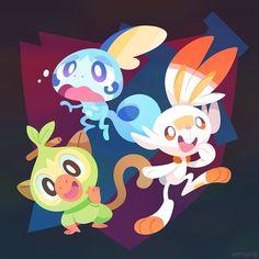 Artwork from the Pokemon universe. New Pokemon Game, All Pokemon, Pokemon Fan Art, Pokemon Games, Pokemon Stuff, Random Pokemon, Pokemon Sketch, Pokemon Poster, Nintendo Pokemon
