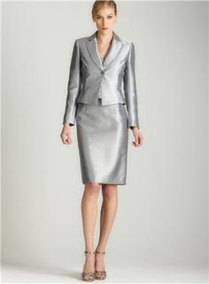 silver women suit - Google Search | 50 Power Suits for Power Women