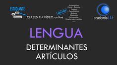 Los determinantes artículos: determinados e indeterminados -Lengua análi...