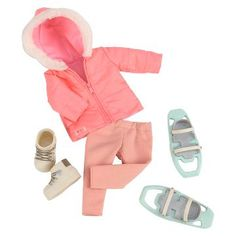 Our Generation® Deluxe Outfit - Snow Wonder™ : Target Cosas American Girl, American Girl Doll Sets, Barbie Doll Set, Girl Dolls, Og Dolls, Poupées Our Generation, Pink Parka, Barbie Camper, Baby Alive Food