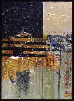 What Does Empty Look Like by Mary Black - Encaustic Mixed Media on Paper Panel http://www.maryblack.net/encaustic_gallery/encaustic_paper_panels/index.html#