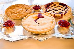 Pies instead of wedding cake.