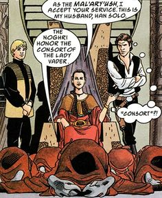 Lady Vader and her consort>>from the Thrawn trilogy Star Wars Books, Star Wars Art, Star Trek, Thrawn Trilogy, Anakin And Padme, Han And Leia, War Comics, Star Wars Humor, Film Music Books