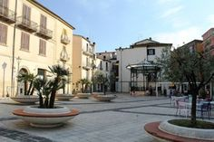 """Piazza Celestino V, Isernia (Molise).  Celestino V was borne in Isernia or Sant'Angelo Limosano between 1.209/1.215. This place - in the center of town - is called """"Piazza Celestino V"""", because he's patron of Isernia."""