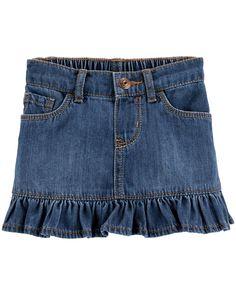 Toddler Girl OshKosh B'gosh® Ruffled Denim Skirt, Size: Blue Other Baby Outfits, Toddler Outfits, Kids Outfits, Toddler Girls, Baby Girls, Boys, Baby Girl Skirts, Baby Girl Pants, Baby Dress