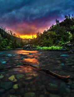 ' Illies Sunset ' ~ Illinois River, Oregon 2014 ~ Omgoodness it is so beautiful ♥