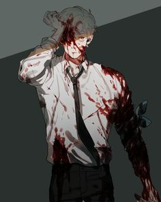 Bloody anime boy Guro