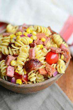 Meat Lover's Pasta Salad from willcookforsmiles.com
