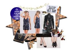 """Party"" by tichia-b on Polyvore featuring moda, Vintage Marquee Lights, Order Home Collection y Prodyne"