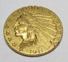 Lot: 1911 P $ 5 Gold Indian, Lot Number: 0041R, Starting Bid: $10, Auctioneer: US Asset Fortfeiture & Seizures Inc, Auction: HUGE HISTORIC US GOLD COIN SALE, Date: October 17th, 2015 EDT