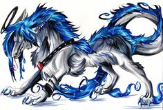 The Dragon Horse Dragon Wolf, Dragon Horse, Dragon Art, Weird Creatures, Fantasy Creatures, Mythical Creatures, Legendary Dragons, Fantasy Wolf, Dragon Pictures