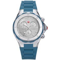 Michele Tahitian JellyBean Large Steel Blue Watch