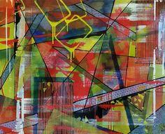 Vrijheids Gevecht, schilderij van Christian van Hedel | Abstract | Modern | Kunst